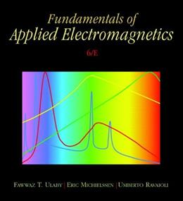 Fundamentals of Applied Electromagnetics (6th Edition) 6 w/CD 9780132139311