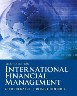 International Financial Management, by Bekaert, 2nd Edition 9780132162760