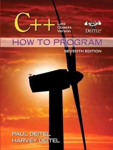 C++ How to Program: Late Objects Version (7th Edition) (How to Program (Deitel)) 7 PKG 9780132165419