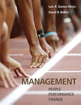 Management, by Gomez-Mejia 9780132176408