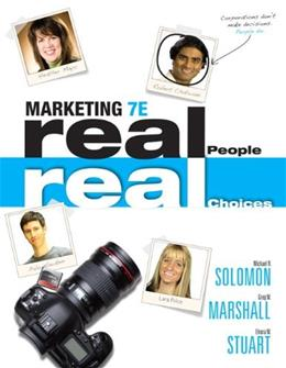 Marketing: Real People, Real Choices (7th Edition) 9780132176842