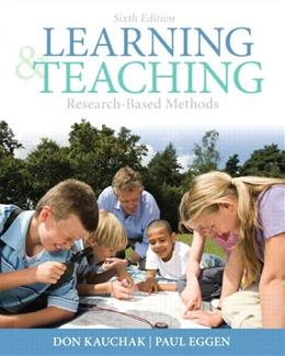Learning and Teaching: Research-Based Methods (6th Edition) 9780132179348