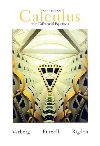 Calculus with Differential  Equations (9th Edition) 9780132306331