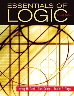 Essentials of Logic, by Copi, 2nd Edition 9780132380348