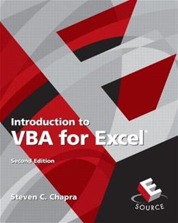 Introduction to VBA for Excel (2nd Edition) 9780132396677