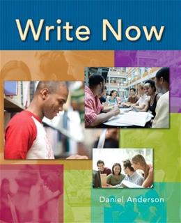 Write Now, by Anderson 9780132415477