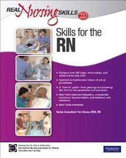 Real Nursing Skills 2.0: Skills for the RN, by Prentice Hall, 2nd Edition, by DVD-ROM ONLY 2 DVD-ROM 9780132459426