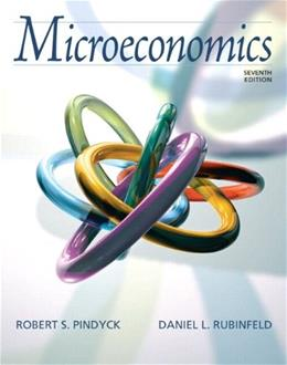 Microeconomics, by Pindyck, 7th Edition 7 PKG 9780132479493
