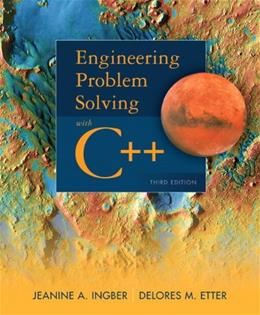 Engineering Problem Solving with C++ (3rd Edition) 9780132492652