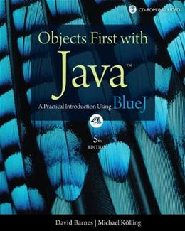 Objects First with Java: A Practical Introduction Using BlueJ (5th Edition) 5 PKG 9780132492669