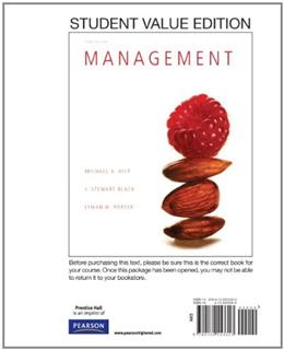 Management, Student Value Edition (3rd Edition) 9780132553353