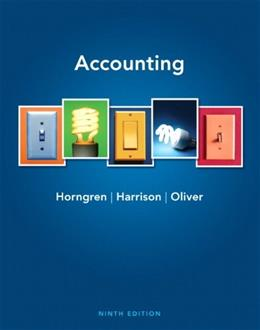 Accounting (9th Edition) 9780132569057