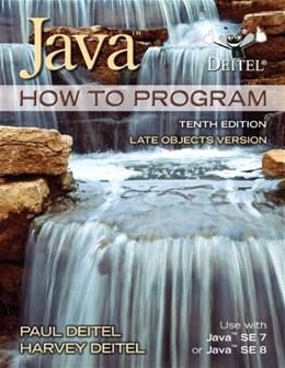 Java How To Program (late objects) (10th Edition) 10 PKG 9780132575652