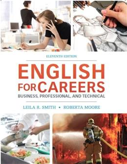 English for Careers: Business, Professional and Technical, by Smith, 11th Edition 9780132619301