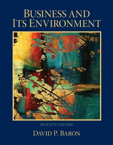 Business and Its Environment (7th Edition) 9780132620550