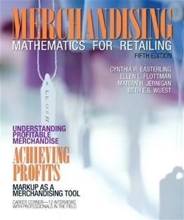 Merchandising Mathematics for Retailing (5th Edition) (Fashion) 9780132724166