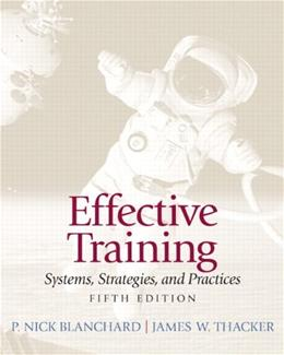 Effective Training (5th Edition) 9780132729048