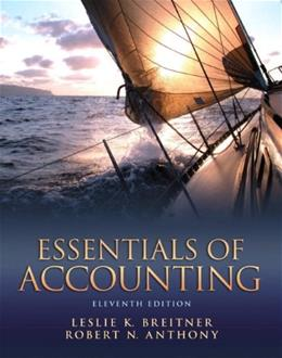 Essentials of Accounting, by Breitner, 11th Edition 9780132744379