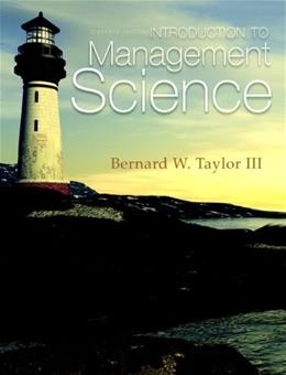 Introduction to Management Science 11 PKG 9780132751919