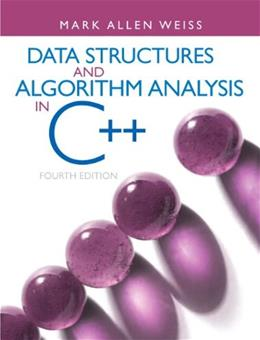 Data Structures & Algorithm Analysis in C++ 4 9780132847377