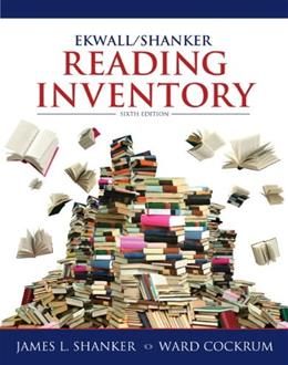 Ekwall Shanker Reading Inventory, by Shanker, 6th Edition 9780132849968
