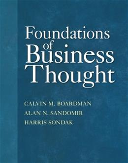 Foundations of Business Thought 1 9780132856072