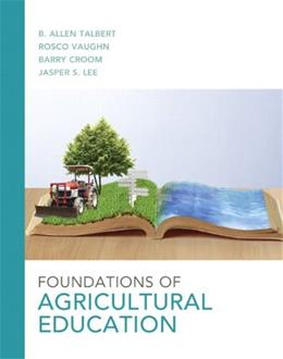 Foundations of Agricultural Education, by Croom 9780132859608