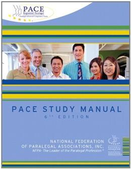 PACE Study Manual, by NFPA, 6th Edition 9780132864336
