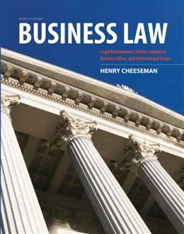 Business Law (8th Edition) 9780132890410