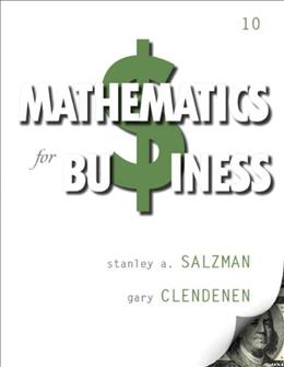 Mathematics for Business (10th Edition) 9780132898355