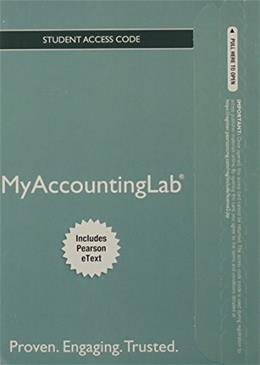 MyAccountingLab with Pearson eText  for Accounting, by Horngren, 9th Edition, ACCESS CODE ONLY 9 PKG 9780132912327