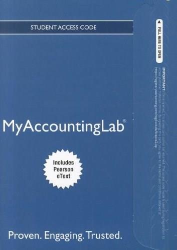 MyAccountingLab with Pearson eText for Cost Accounting, by Horngren, 14th Edition, ACCESS CODE ONLY 14 PKG 9780132914451