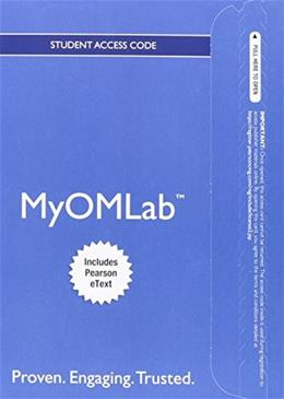 MyOMLab with Pearson eText for Operations Management, by Heizer, 11th Edition, Access Code Only 11 PKG 9780132920629
