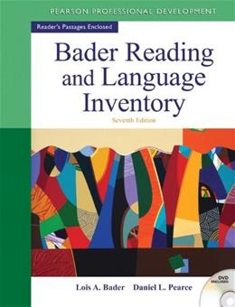 Bader Reading & Language Inventory (7th Edition) 7 w/DVD 9780132943680