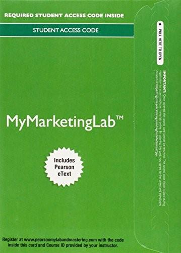 MyMarketingLab with Pearson eText -- Access Card -- for Marketing: Real People, Real Choices 8 PKG 9780132952323