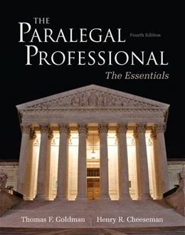 The Paralegal Professional: Essentials (4th Edition) 9780132956048