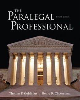 The Paralegal Professional (4th Edition) 9780132956055