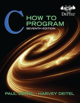 C: How to Program, 7th Edition 9780132990448