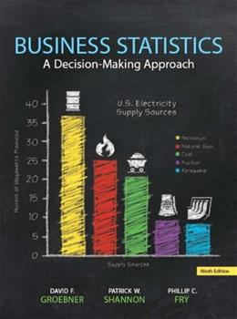 Business Statistics, by Groebner, 9th Edition 9 PKG 9780133098785