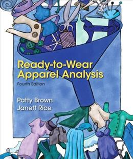 Ready-to-Wear Apparel Analysis (4th Edition) (Fashion Series) 9780133109894