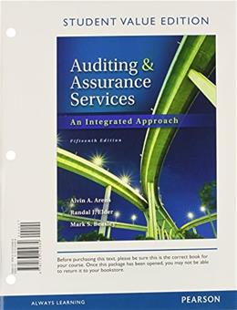 Auditing and Assurance Services, Student Value Edition (15th Edition)- Standalone Book 9780133125689