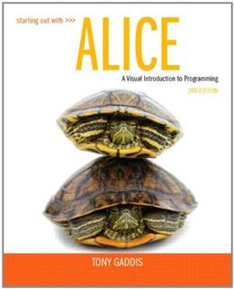 Starting Out with Alice (3rd Edition) 3 PKG 9780133129748