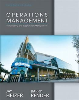 Operations Management, by Heizer, 11th Edition 11 PKG 9780133130768