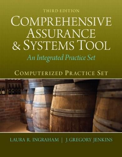 Computerized Practice Set for Comprehensive Assurance and Systems Tool: An Integrated Practice Set, by Ingraham, 3rd Edition 3 w/CD 9780133143263