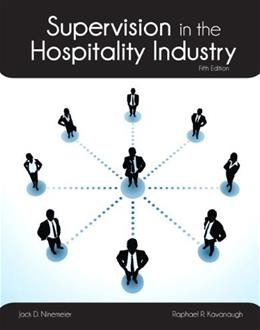 Supervision in the Hospitality Industry with Answer Sheet (AHLEI) (5th Edition) (AHLEI - Hospitality Supervision / Human Resources) 5 PKG 9780133255089