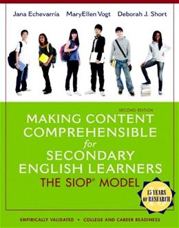 Making Content Comprehensible for Secondary English Learners: The SIOP Model (2nd Edition) 2 PKG 9780133362770