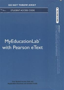 MyEducationLab with Video-Enhanced Pearson eText for Fundamentals of Early Childhood Education, by Morrison, Access Code Only PKG 9780133365108