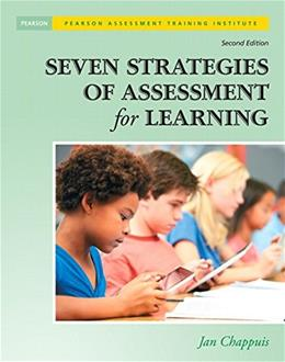 7 Strategies of Assessment for Learning, by Chappuis, 2nd Edition 2 w/CD 9780133366440