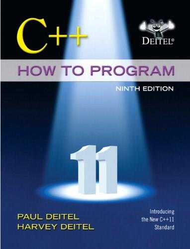 C++ How to Program (Early Objects Version) (9th Edition) 9 PKG 9780133378719
