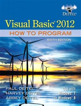 Visual Basic 2012 How to Program (6th Edition) 6 PKG 9780133406955